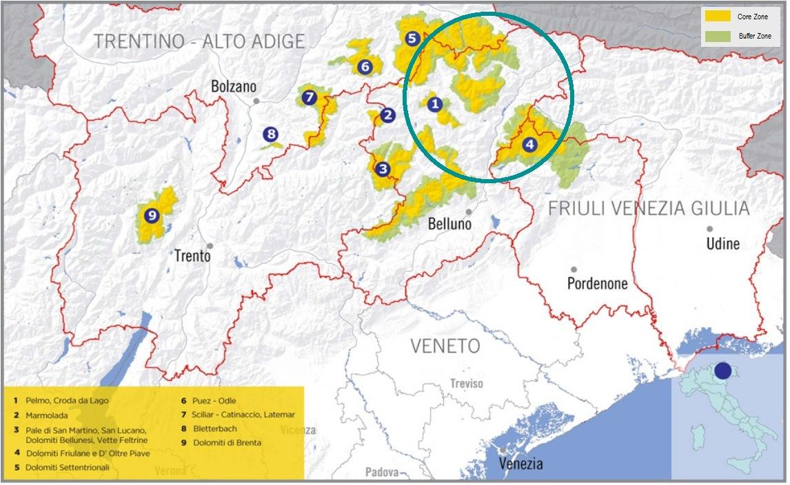 Cartina Dolomiti Italia.Mappa Cadore Dolomiti Terra Magica